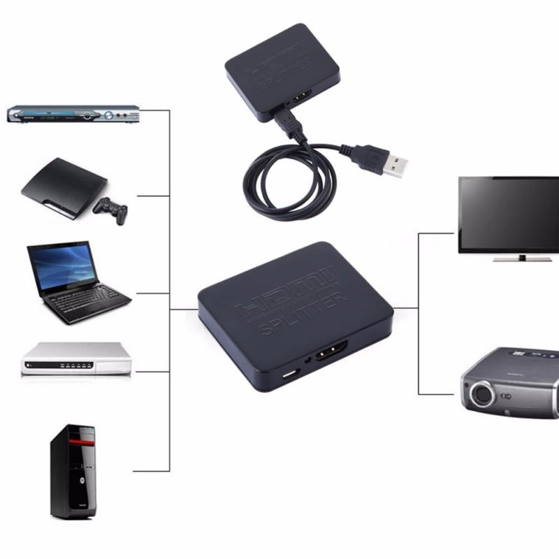 2 Port HDMI splitter με υποστήριξη 4K και 3D (1 είσοδος / 2 έξοδοι) OEM Μετατροπείς εικόνας ee1826