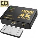 HDMI μετατροπέας splitter 3 σε 1 με υποστήριξη Ultra HD 4K με εσωτερικό IR και χειριστήριο OEM Μετατροπείς εικόνας ee2831