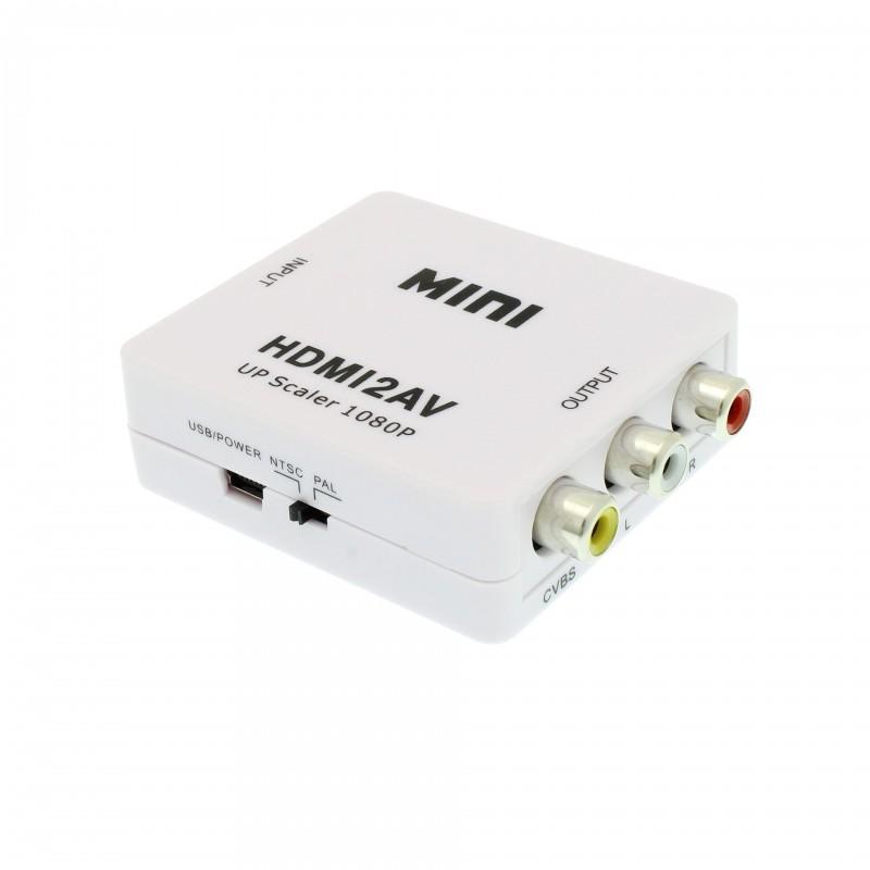 Μετατροπέας HDMI 1080P σε AV / RCA / CVBS L/R λευκός OEM