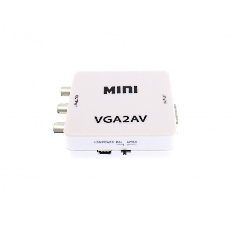 VGA σε TV AV RCA S video Converter Box OEM Μετατροπείς εικόνας ee2361