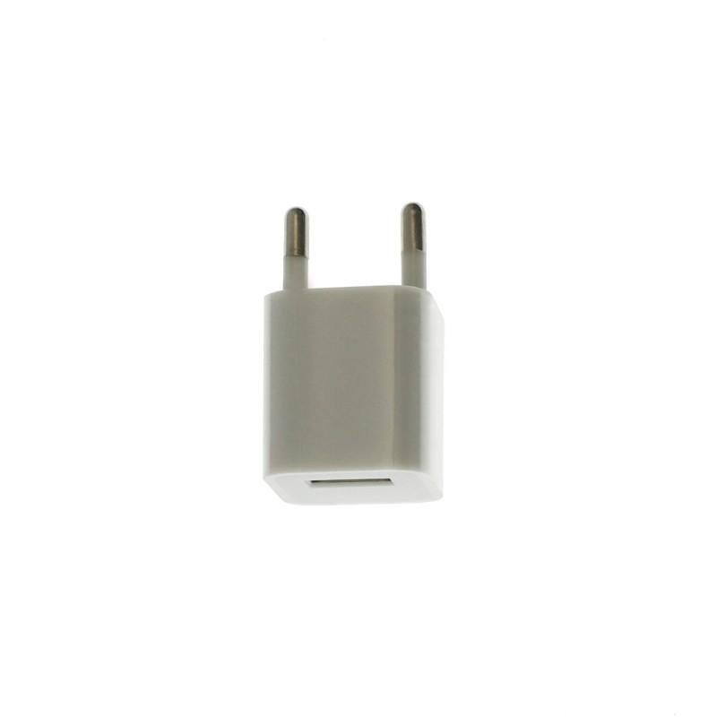 Αντάπτορας Ευρωπαϊκών προδιαγραφών λευκός με έξοδο USB ΟΕΜ