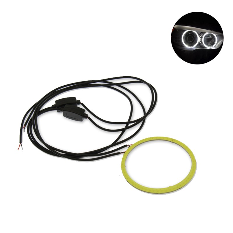 LED COB φωτιζόμενη στεφάνη / angel eye αυτοκινήτου μοτοσυκλέτας 1 τεμ. λευκό ψυχρό 12V 80mm OEM