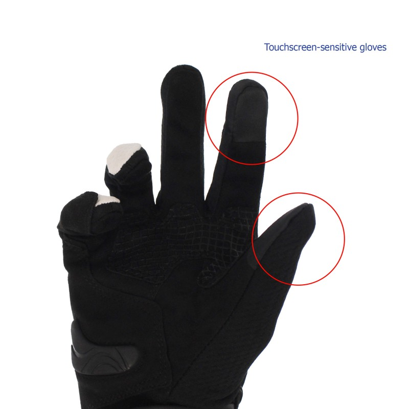 Αδιάβροχα καλοκαιρινά γάντια μηχανής με προστασία στις αρθρώσεις XL μπλε Motowolf MDL0308