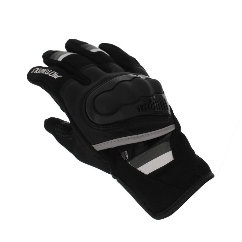 Αδιάβροχα καλοκαιρινά γάντια μηχανής με προστασία στις αρθρώσεις Large γκρι Motowolf MDL0308