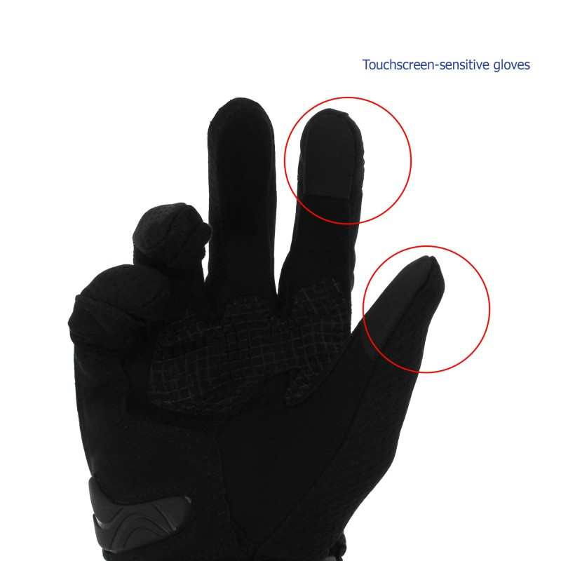Αδιάβροχα καλοκαιρινά γάντια μηχανής με προστασία στις αρθρώσεις XXL γκρι Motowolf MDL0308