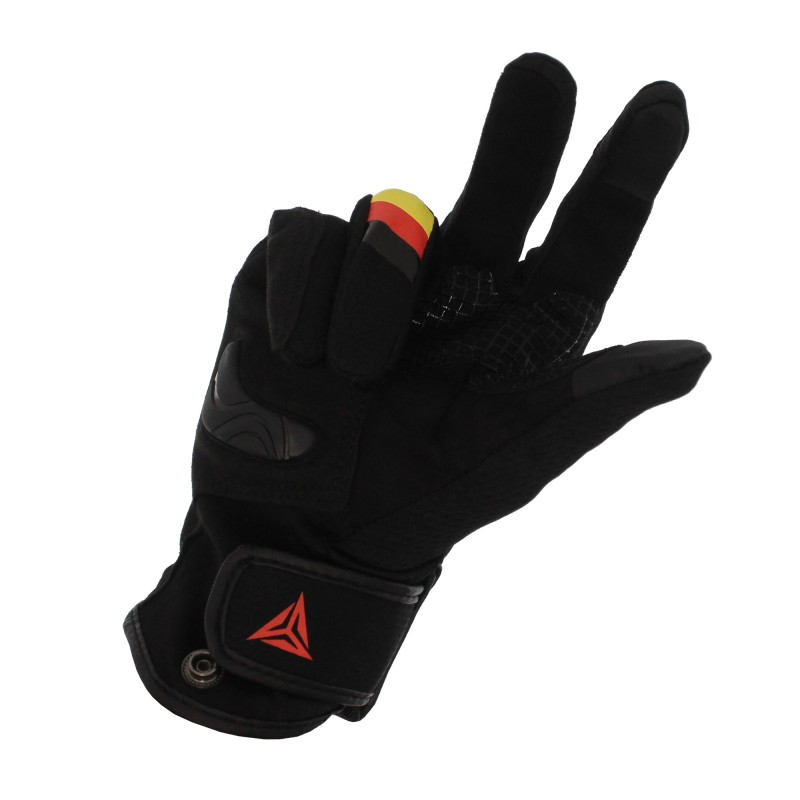 Αδιάβροχα καλοκαιρινά γάντια μηχανής με προστασία στις αρθρώσεις Large κίτρινο Motowolf MDL0308
