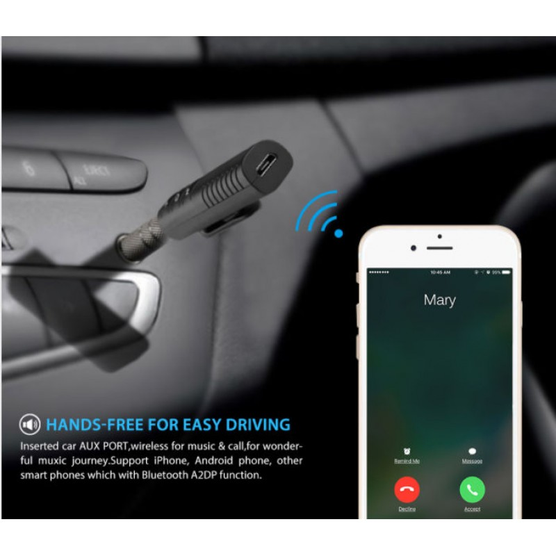 Bluetooth Receiver 3.5mm Jack κόκκινο OEM Car Audio ee2305