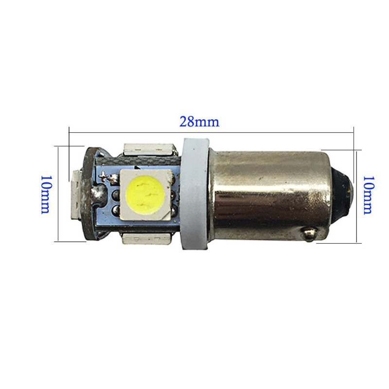 BA9S Canbus 5 SMD 12V DC μονοπολική λάμπα LED ροζ 1 τεμ. OEM