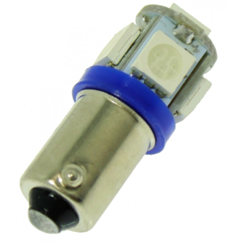BA9S Canbus 5 SMD 12V DC μονοπολική λάμπα LED μπλε1 τεμ. OEM