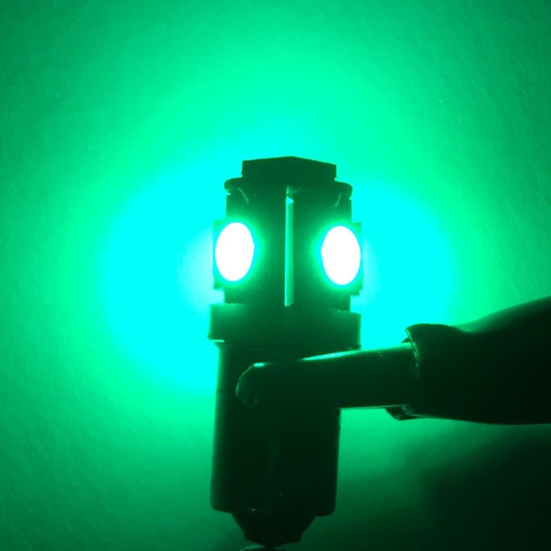 BA9S Canbus 5 SMD 12V DC μονοπολική λάμπα LED πράσινο1 τεμ. OEM