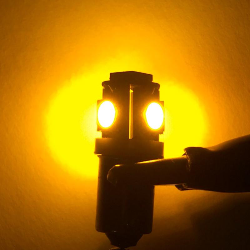 BA9S Canbus 5 SMD 12V DC μονοπολική λάμπα LED πορτοκαλί 1 τεμ. OEM
