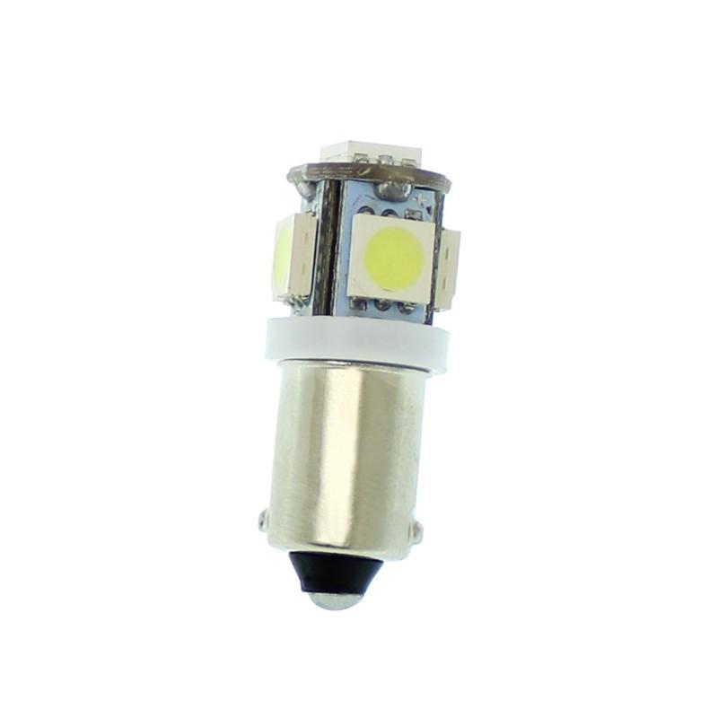 BA9S Canbus 5 SMD 12V DC μονοπολική λάμπα LED 6000K ψυχρό λευκό 1 τεμ. OEM