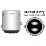 Διπολική λάμπα LED 1157 2835 15 SMD κόκκινο OEM Διπολικές ee1370