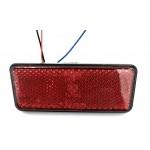 LED διπολικό τετράγωνο φως φρένων με 24 SMD DC 12V για την μηχανή κόκκινου χρώματος 1 τεμ. IP66 ΟΕΜ