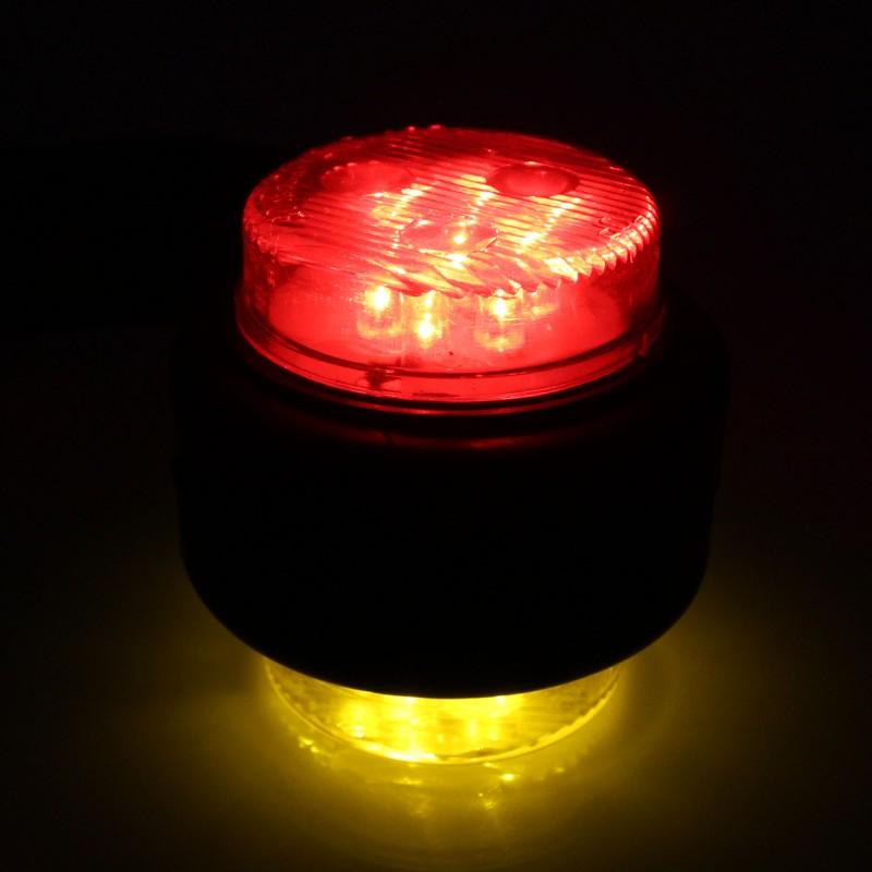 Πλευρικά φώτα όγκου LED 12 SMD 10-30V IP65 κόκκινο και πορτοκαλί για φορτηγό σετ 2 τεμαχίων ΟΕΜ