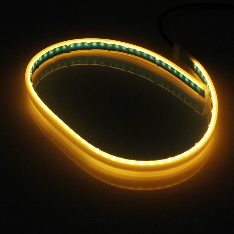 LED Εύκαμπτη ταινία για φώτα ημέρας αυτοκινήτου 2 τεμάχια x 60cm ψυχρό λευκό-πορτοκαλί 12V IP65 ΟΕΜ