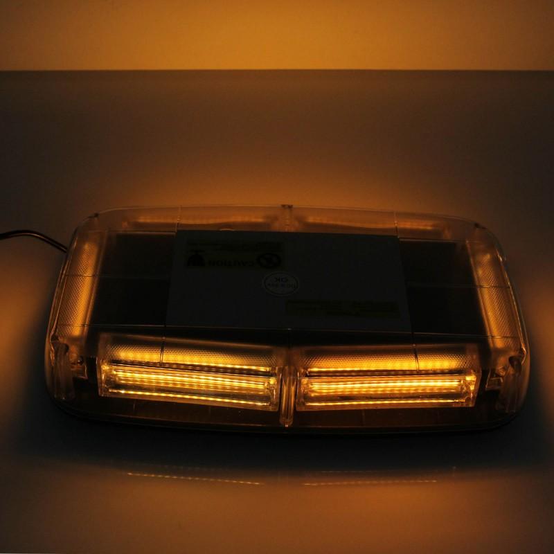 LED φάρος μαγνητικός Strobe 9-30V πορτοκαλί IP66 με 7 λειτουργίες και πρίζα αναπτήρα για αυτοκίνητο/φορτηγό ΟΕΜ