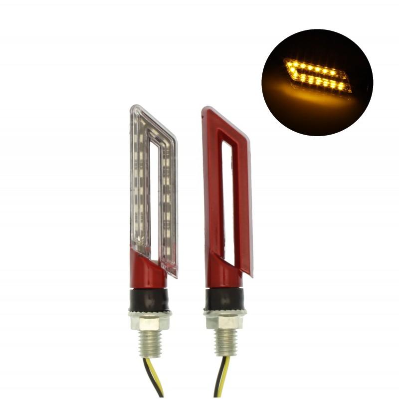 Φλάς μηχανής 15 SMD LED universal πορτοκαλί σετ 2 τεμ. IP65 OEΜ