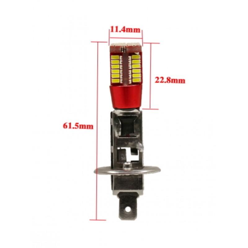 H1 LED φώτα ημέρας Canbus 57 SMD 5730 IP65 12V 6000K ψυχρό λευκό 1τεμ. OEM