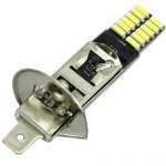 H1 LED Canbus 5730 24 SMD 12V cool white φώτα ημέρας 1τεμ. IP65 OEM