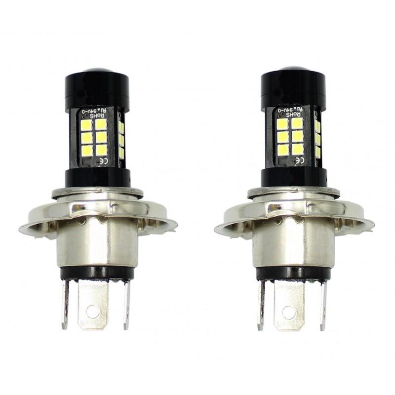 2 X 5W H4 φώτα ημέρας 27 SMD 12V240LM 6500K IP65 OEM