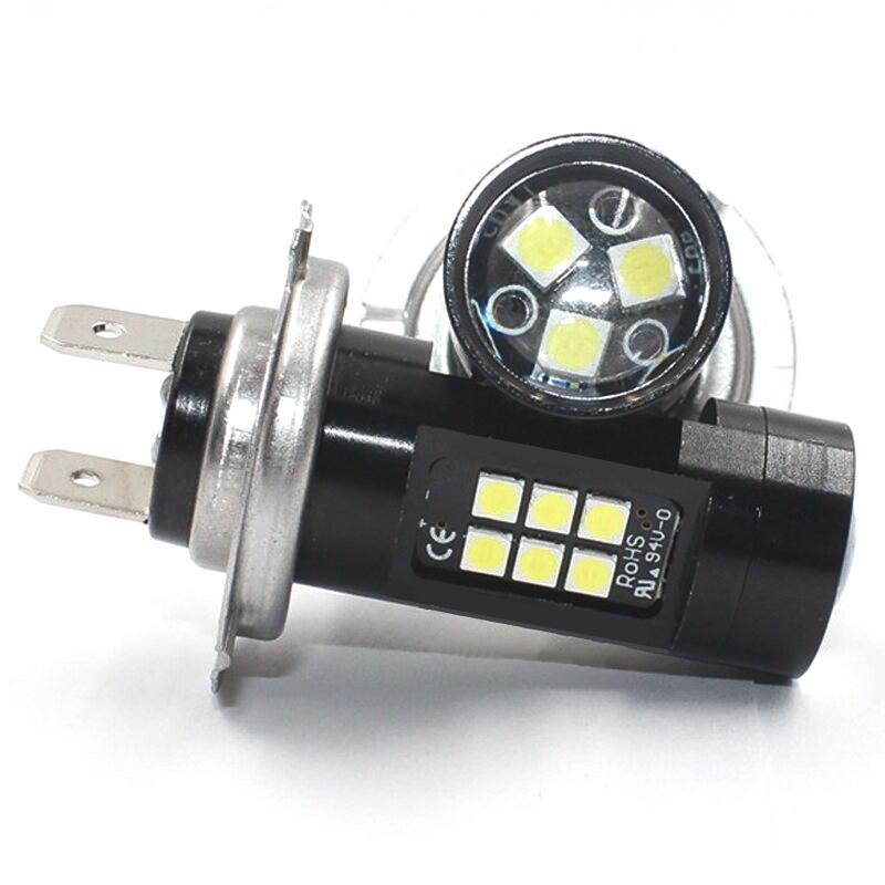 2 X 5W H7 φώτα ημέρας 27 SMD 12V/24V 2400LM 6500K IP65 OEM H7 ee3900