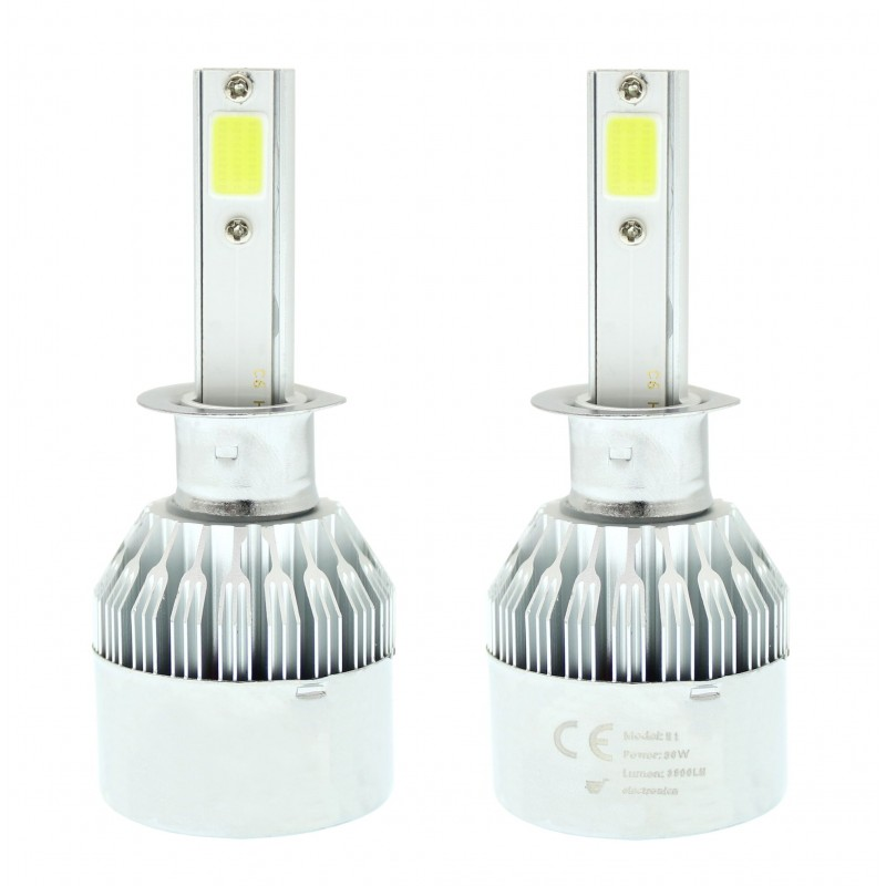 H1 C6 LED COB PROTECTED 12V/24V (72W 7600LM) 6000K IP67 2 X 36W