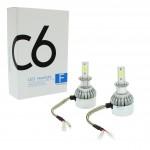 H3 C6 LED COB PROTECTED 12V/24V (72W 7600LM) 6000K IP67 2 X 36W