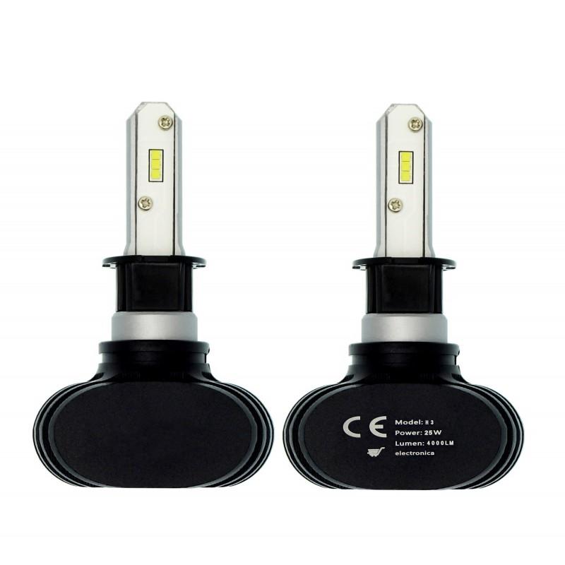 H3 S1 LED Headlight CSP 12V/24V 2 X 25W (50W 8000LM) IP65