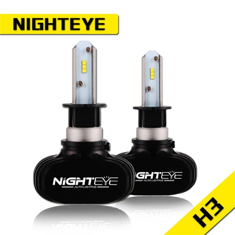 H3 LED 12V/24V (50W 8000LM) 6500K IP68 A315 S1 NIGHTEYE H-3 ee3098
