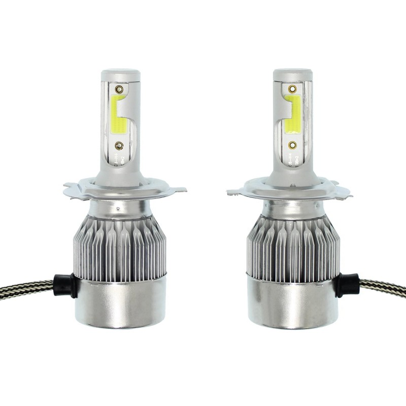 H4 C6 LED COB PROTECTED 12V/24V (72W 7600LM) 6000K IP67 2 X 36W