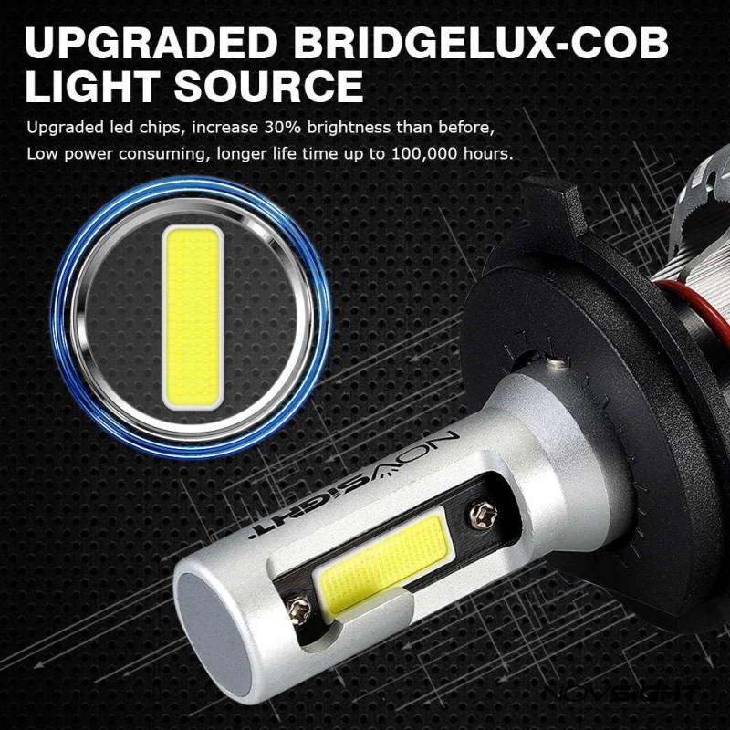 H4 LED 12V/24V (72W 10000LM) 6500K IP68 A500N12NOVSIGHT2 x 36W