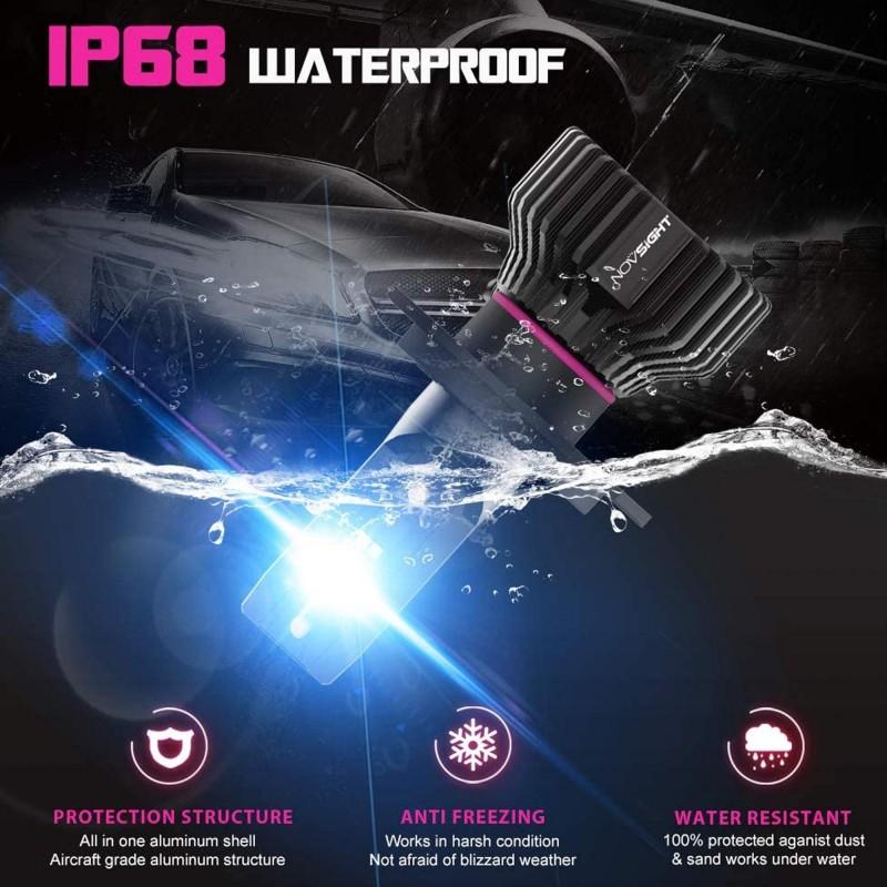 H4 LED 12/24V 50W 10000LM 6500K IP68 A500 N31 NOVSIGHT 2 x 25W 2 έτη εγγύηση