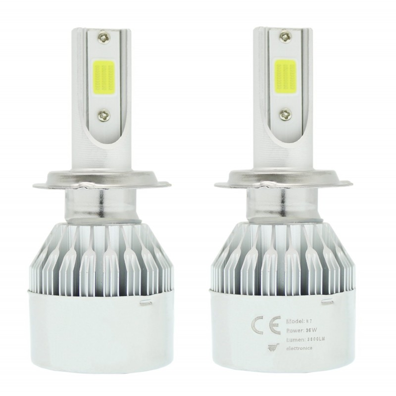 H7 C6 LED COB PROTECTED 12V/24V (72W 7600LM) 6000K IP67 2 X 36W