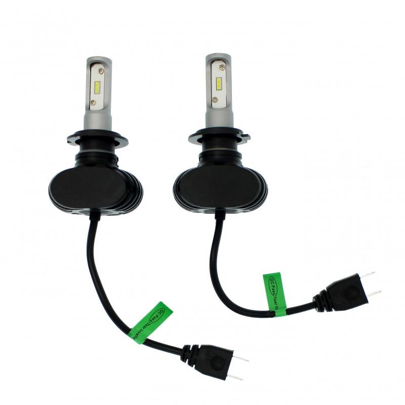 H7 S1 Headlight LED CSP 12V/24V 2 X 25W (50W 8000LM) 6500K IP65