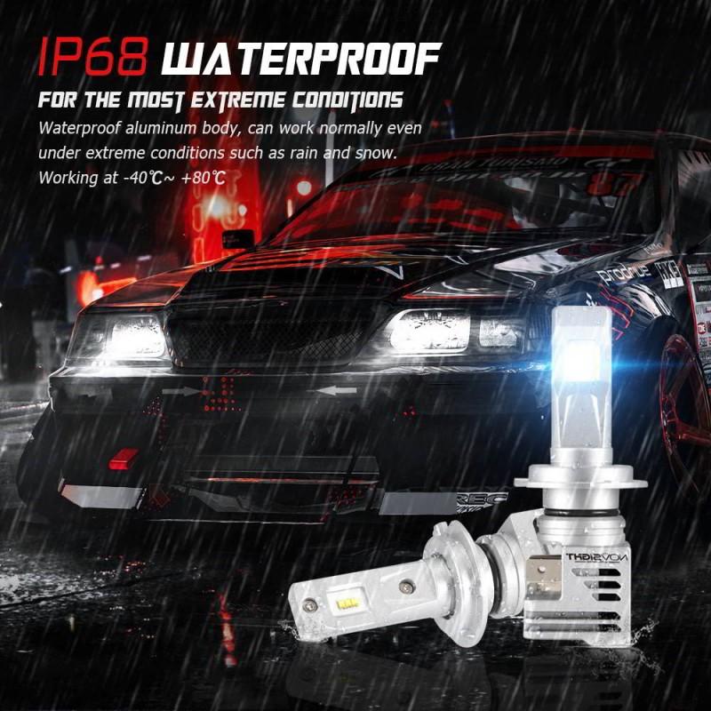 H7 LED 12V/24V (60W 10000LM) 6000K IP68 A500 N30S NOVSIGHT 2 x 30W