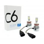 H8/H9/H11 C6 LED COB PROTECTED 12V/24V (72W 7600LM) 6000K IP67 2 X 36W