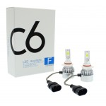 HB3 9005 C6 LED COB PROTECTED 12V/24V (72W 7600LM) 6000K IP67 2 X 36W
