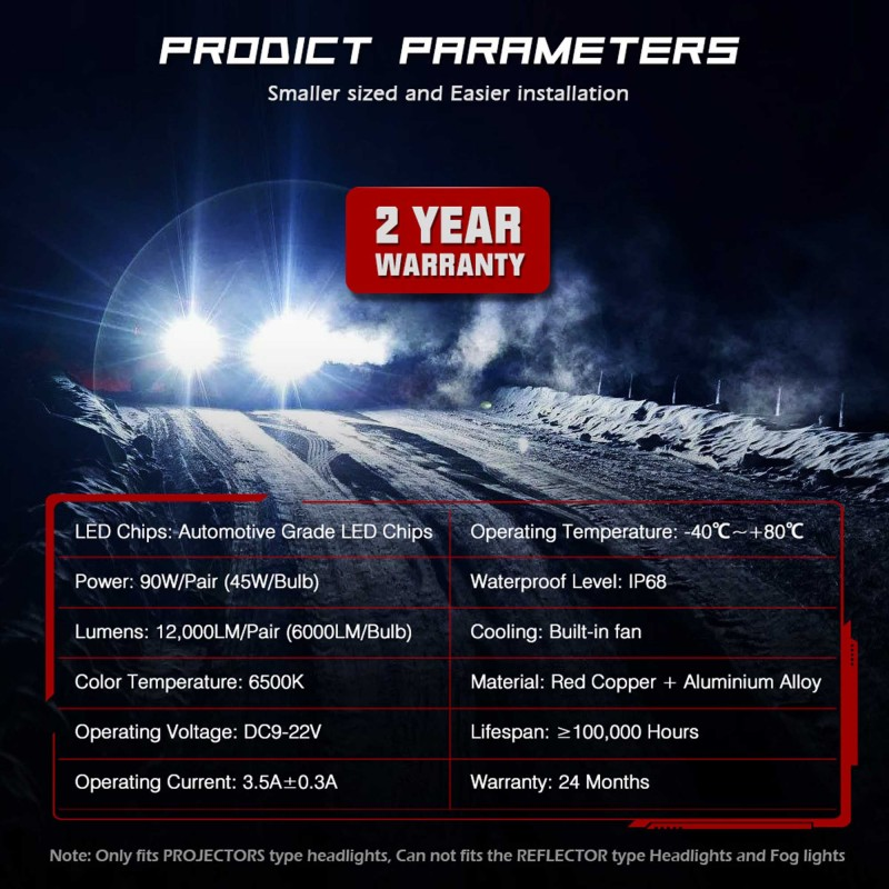 HB3 9005 LED 12V/24V 90W 12000LM 6500K IP68 A500 N26NOVSIGHT2 X 45W 2 έτη εγγύηση