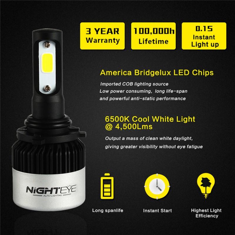 HB4 90069-32V LED ( 72W 9000LM ) 6500K IP68 A315 S2 NIGHTEYE HB-4 ee3104