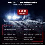 HB4 9006 LED 12V/24V 90W 12000LM 6500K IP68 A500 N26NOVSIGHT2 X 45W 2 έτη εγγύηση