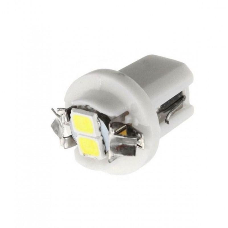LED T5 B8.5D 2 SMD 12V για όργανα αυτοκινήτου 1 τεμ. λευκό ΟΕΜ