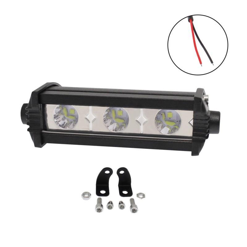 Αδιάβροχος προβολέας LED μπάρα διασποράς 10cm 9W 3 SMD 10-30V 810LM 6000K IP67 για βάρκες/τρακτέρ/φορτηγά/αυτοκίνητα MAXILLUM 5246
