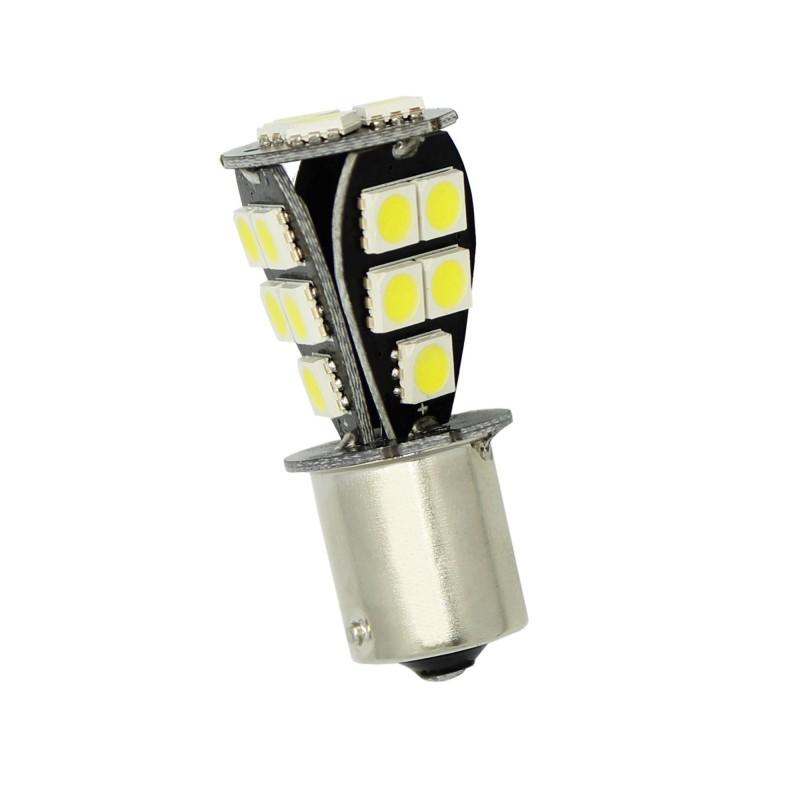 Μονοπολική LED αυτοκινήτου 1156 BA15S 12V 6000K 18 SMD λευκή 1 τεμ. ΟΕΜ