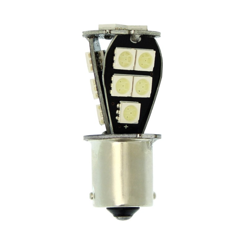 Μονοπολική LED λάμπα 1156 BA15S PY21W 12V 300LM 21 SMD κόκκινο 1 τεμ. ΟΕΜ