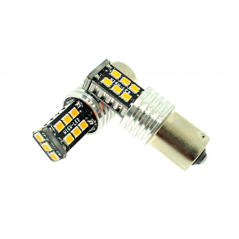 Μονοπολική λάμπα LED Canbus 1156 2835 15 SMD πορτοκαλί 1 τεμ. OEM
