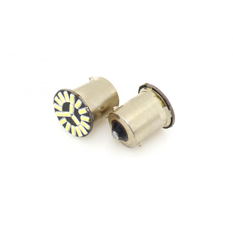 Μονοπολική λάμπα LED αυτοκινήτου 1156 BA15S 12V 18 SMD cool white 1 τεμ. ΟΕΜ