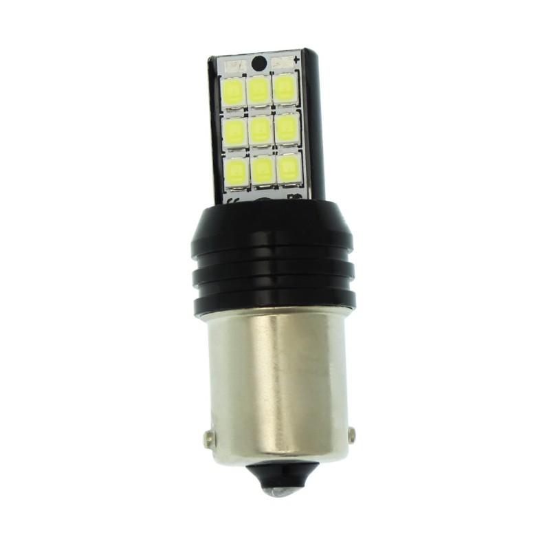 Μονοπολική LED λάμπα 1156 BA15S 18 SMD 12V 300LM ψυχρό λευκό 6000K 1 τεμ. ΟΕΜ