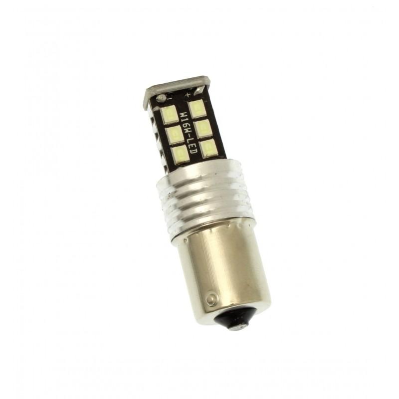 Μονοπολική λάμπα LED Canbus 1156 2835 15 SMD γαλάζιο 1 τεμ. YN-LED06