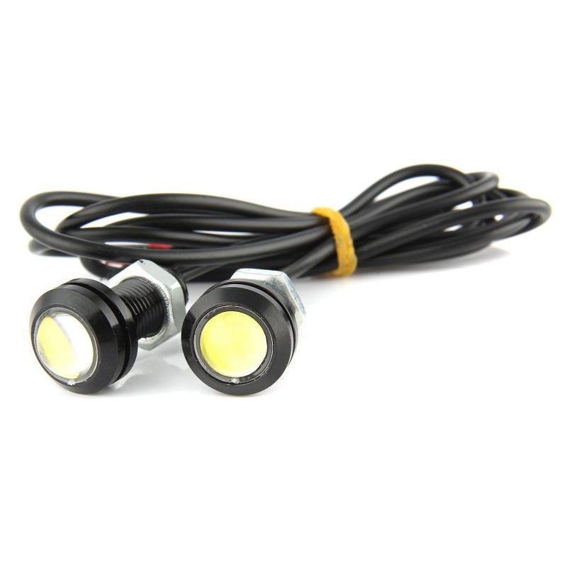 2 x 22mm 10W 12V 2 SMD COB βοηθητικά φώτα παρκαρίσματος λευκά αδιάβροχα IP65 OEM Parking Led ee3878